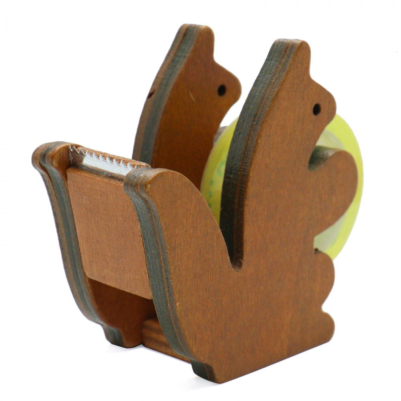 Amazon.com: Buorsa Wooden Squirrel Desktop Tape Dispenser Tape Cutter for School Office: Health & Personal Care