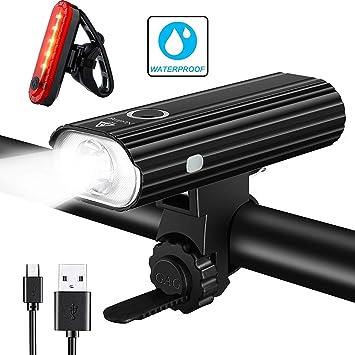 qitao® Bicicleta luces bicicleta luz linterna linterna Headlight ...