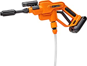 Ivation Cordless Portable Power Washer 290 PSI Pressure Cleaner, 2500mAh Battery Powered Sprayer Gun with 16.4' Water Hose, Adjustable Water Flow Nozzle, Carrying Case & Flashlight