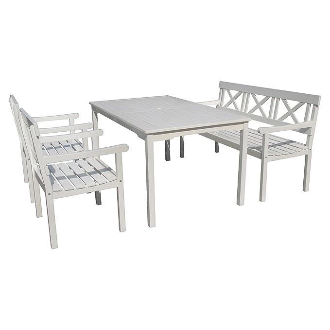 Amazon.de: Tischgruppe, Sitzgruppe, Gartenmöbel im Schweden-Look ...