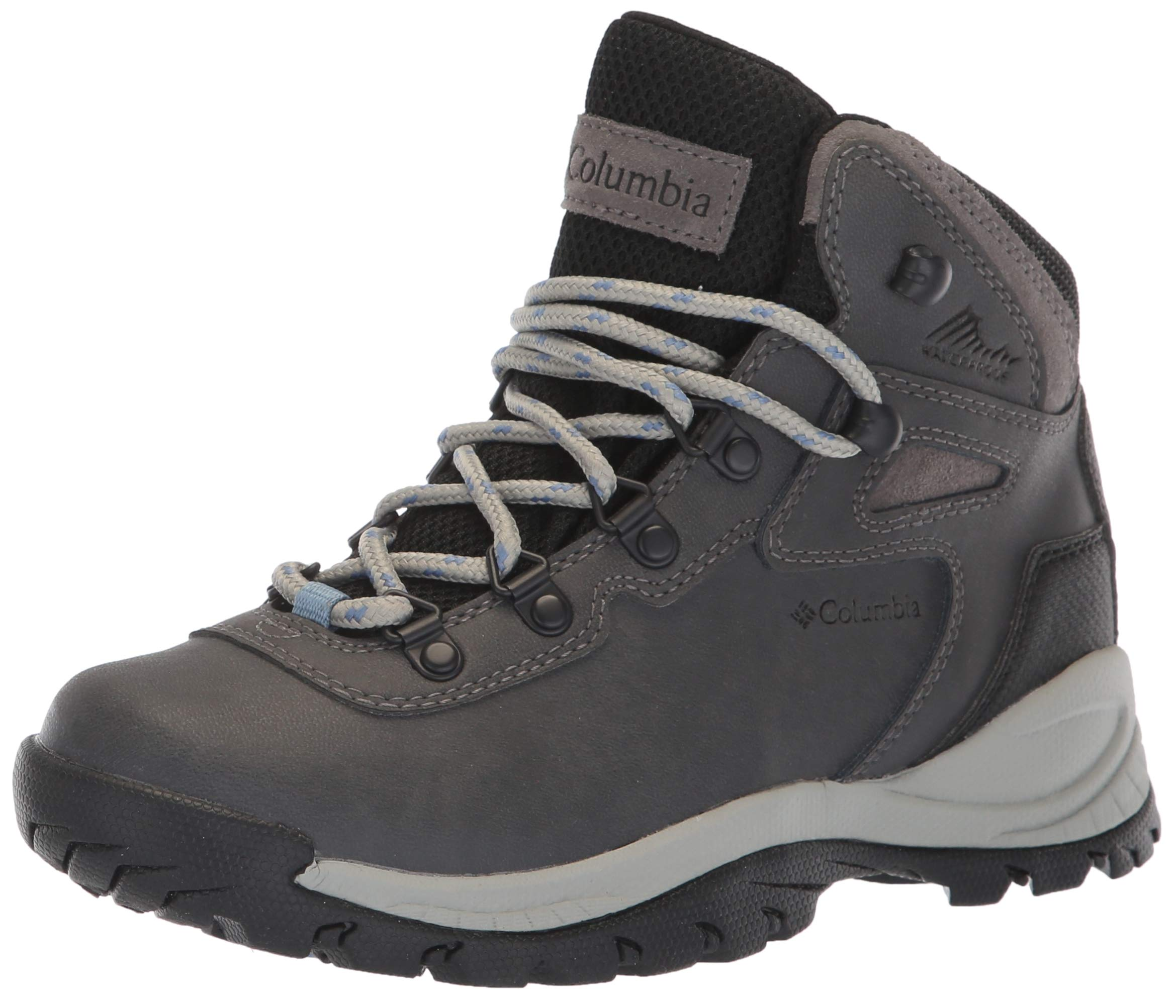 Columbia Women's Newton Ridge Plus Hiking Boot, Quarry/Cool Wave, 6 Wide US