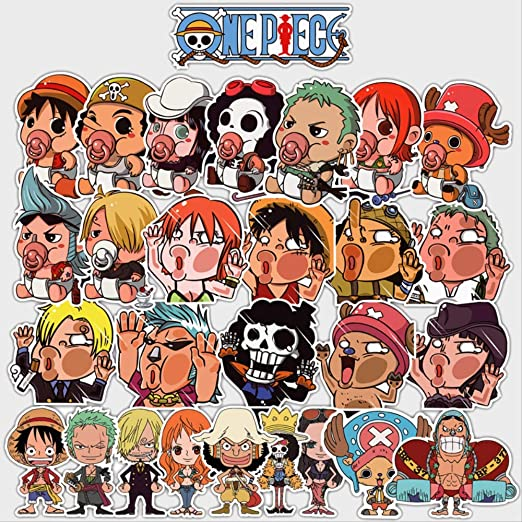 Anime Character Sticker Pack Impermeable De Dibujos Animados ...