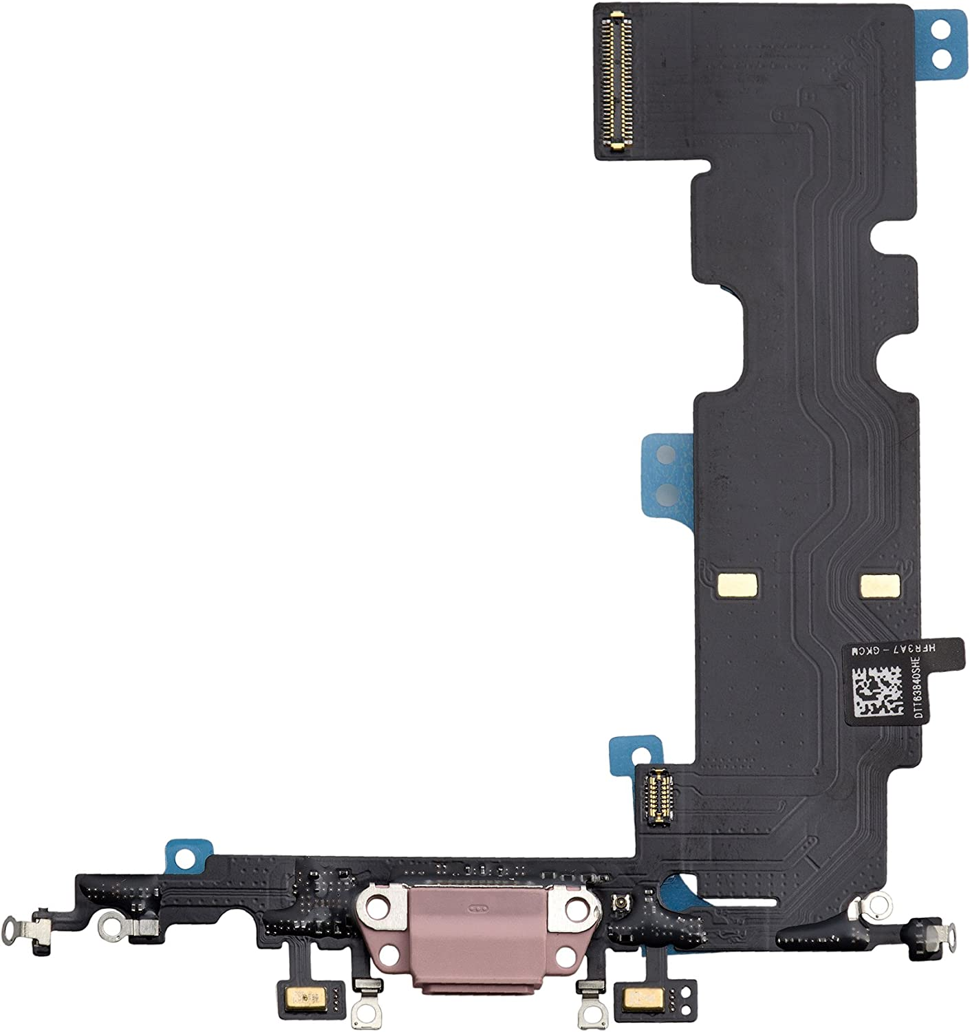 COHK USB Charging Port Dock Connector Flex Cable with Microphone Replacement for iPhone 8 Plus 5.5 inches (Rose Gold)