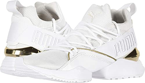 5 Whitemetallic B Women's Maia 8 Puma Muse Us Amazon Gold Varsity xZ60nIw
