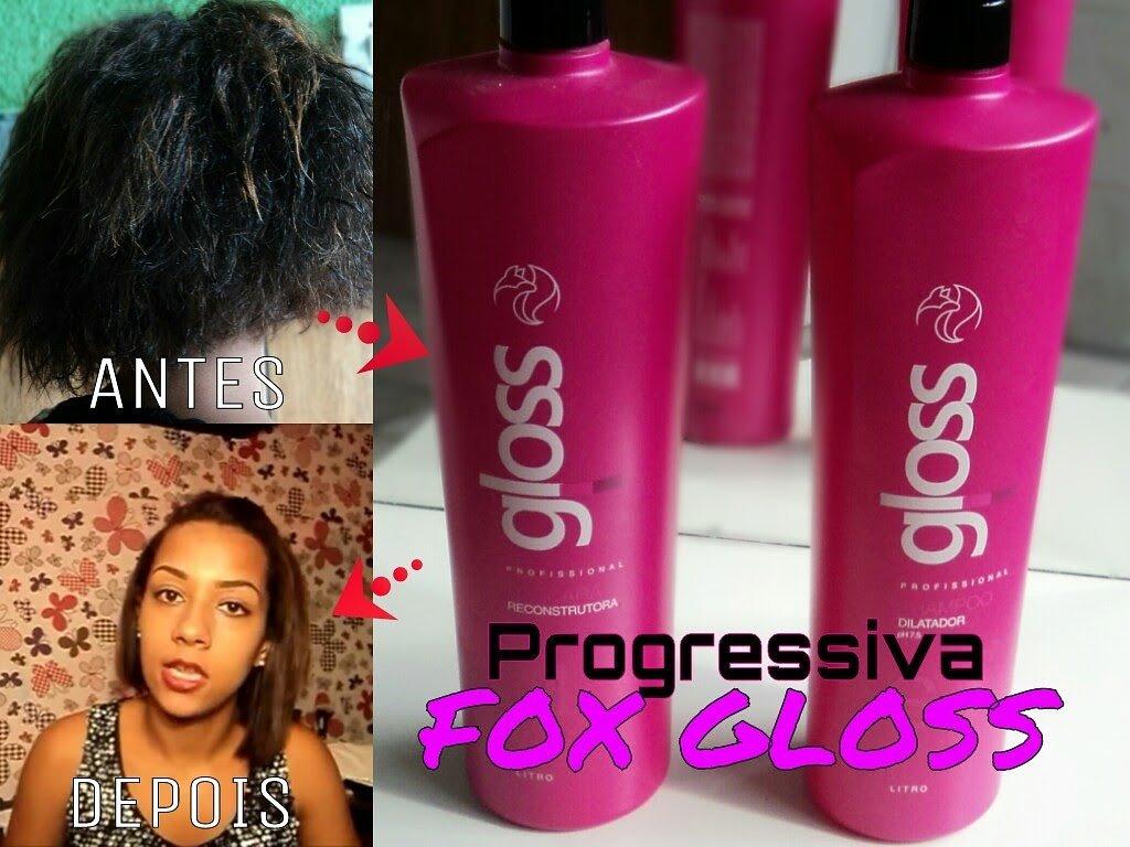 FOX GLOSS PROGRESSIVE BRUSH KIT BRAZILIAN KERATIN HAIR TREATMENT - 2 X 1L