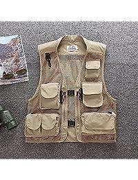 Shimmery Mens Outdoor Multi Pocket Sports Fishing Hunting Waistcoat Travel Photography Jackets