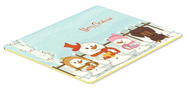 20 x 30 Multicolor Carolines Treasures BB2462CMT Merry Christmas Carolers Dachshund Chocolate Kitchen or Bath Mat