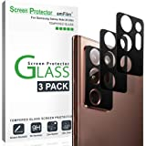 amFilm (3 Pack) Camera Protector for Samsung Galaxy Note 20 Ultra, Rear-Facing Camera Tempered Glass Screen Protector (3…