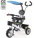 HotOne 023AK 4 In 1 Baby Children Detachable stroller Trike Classic Kids tricycle: Grows with your child(White)
