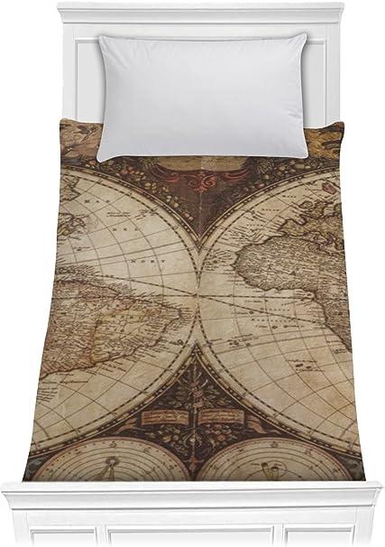 Amazon.com: RNK Shops Vintage World Map Comforter - Twin XL ...