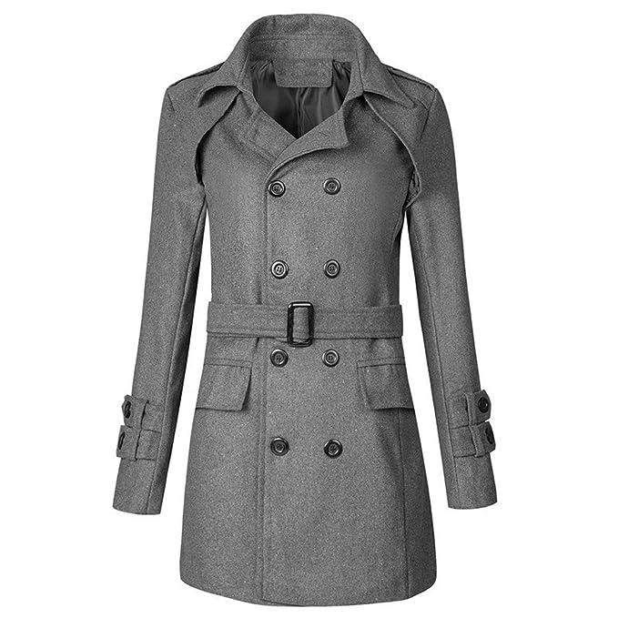 reputable site 3b2eb 94ff0 Hffan Uomini Inverno Caldo Giacca Cappotto Outwear Sottile ...