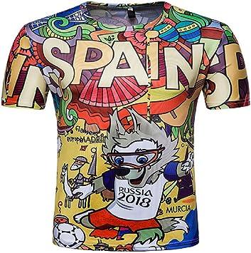 Alissne Camiseta FIFA Copa del Mundo 2018 Camisetas Equipo de ...