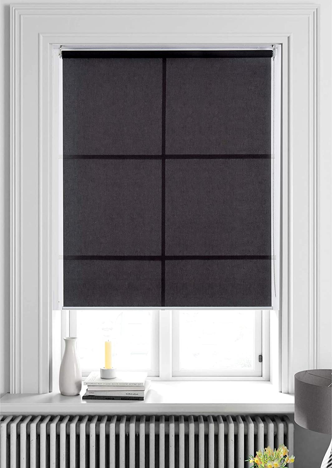 ALLBRIGHT Light Filtering Roller Shades, Classic Privacy Room Darkening Roller Sheer Shades Blinds,Easy Installation for Home and Office Windows (27 x 72 inches, Grey)