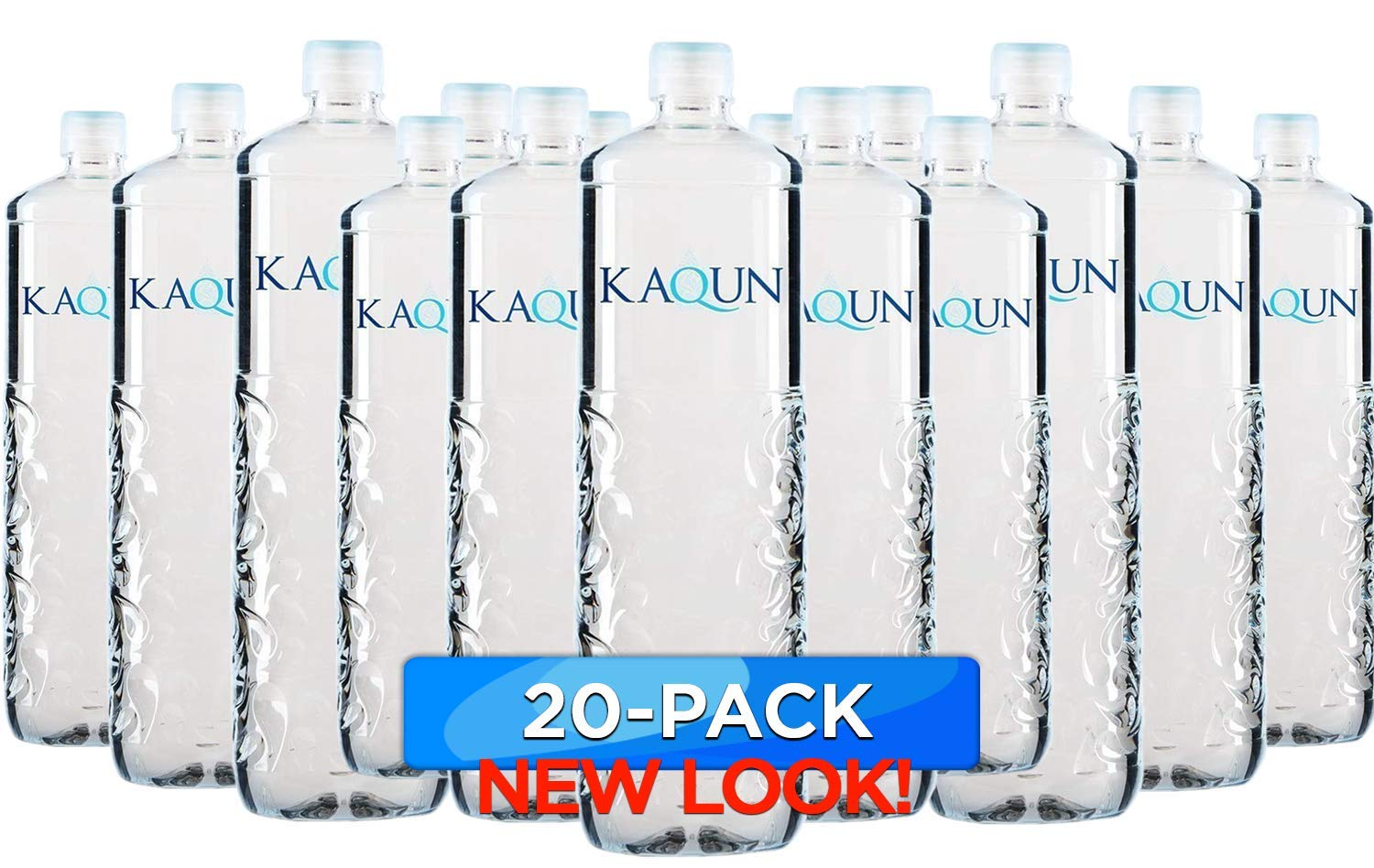 KAQUN Water 20-Pack, Oxygenated & Refreshing, Oxygen Infused Bottled Drinking Water, Chemical Free, Detox, for Kaqun Therapy, Authorized Retailer by BodyHealth