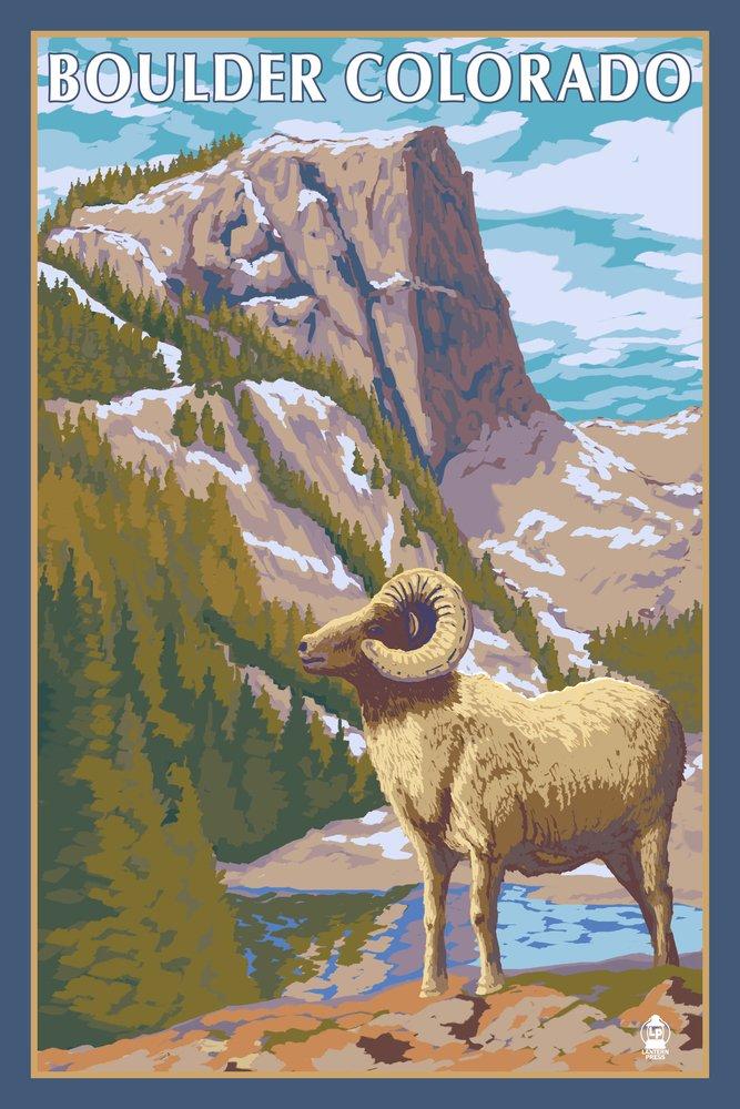 ビッグホーン羊 – Boulder、コロラド州 36 x 54 Giclee Print LANT-25079-36x54 36 x 54 Giclee Print  B017E9Z4V4