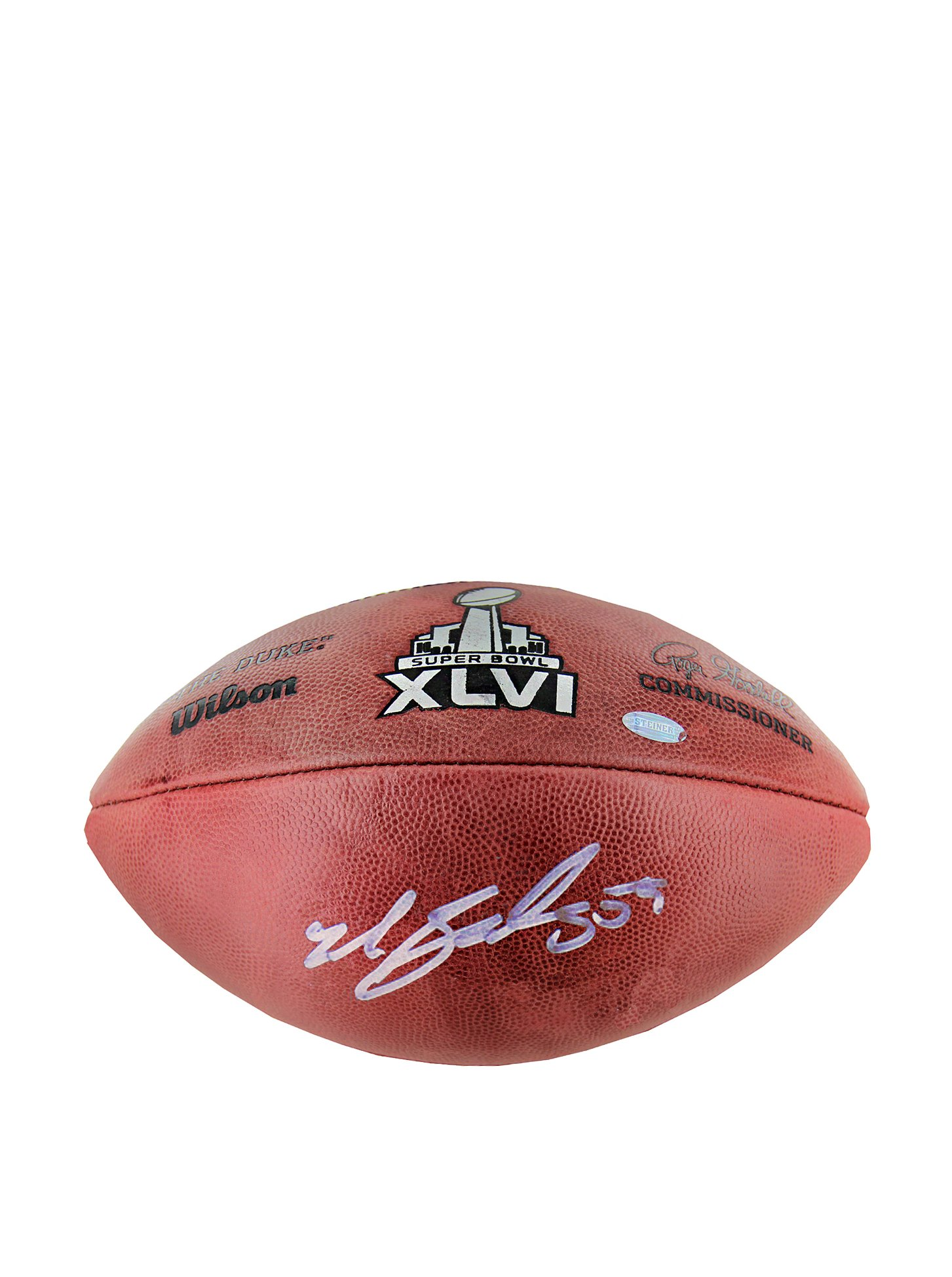 NFL New York Giants Michael Boley Signed Football