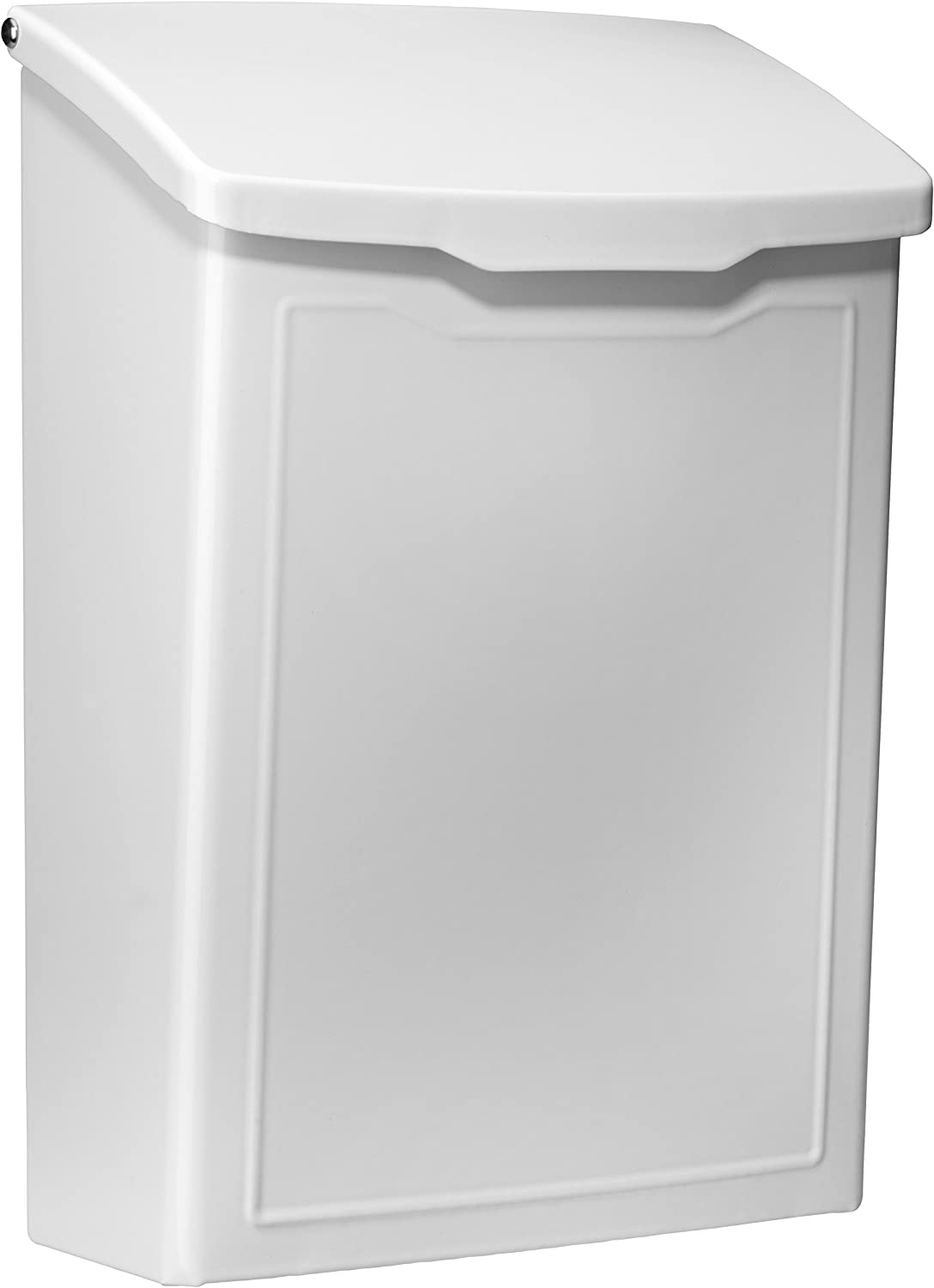 Architectural Mailboxes 2681W White Marina Wall Mount Mailbox, Small