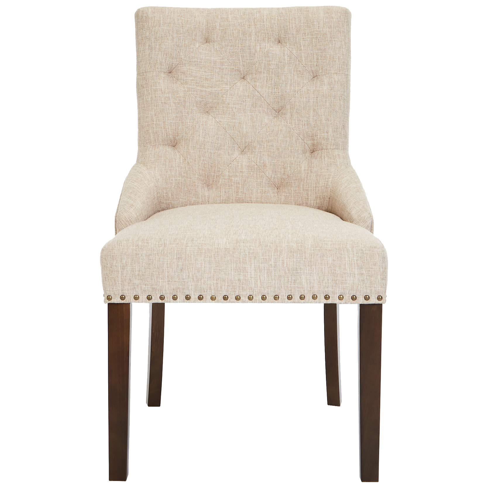 Red Hook Martil Upholstered Dining Chair with Nailhead Trim, Biscuit Beige, Set of 2 by Red Hook (Image #3)