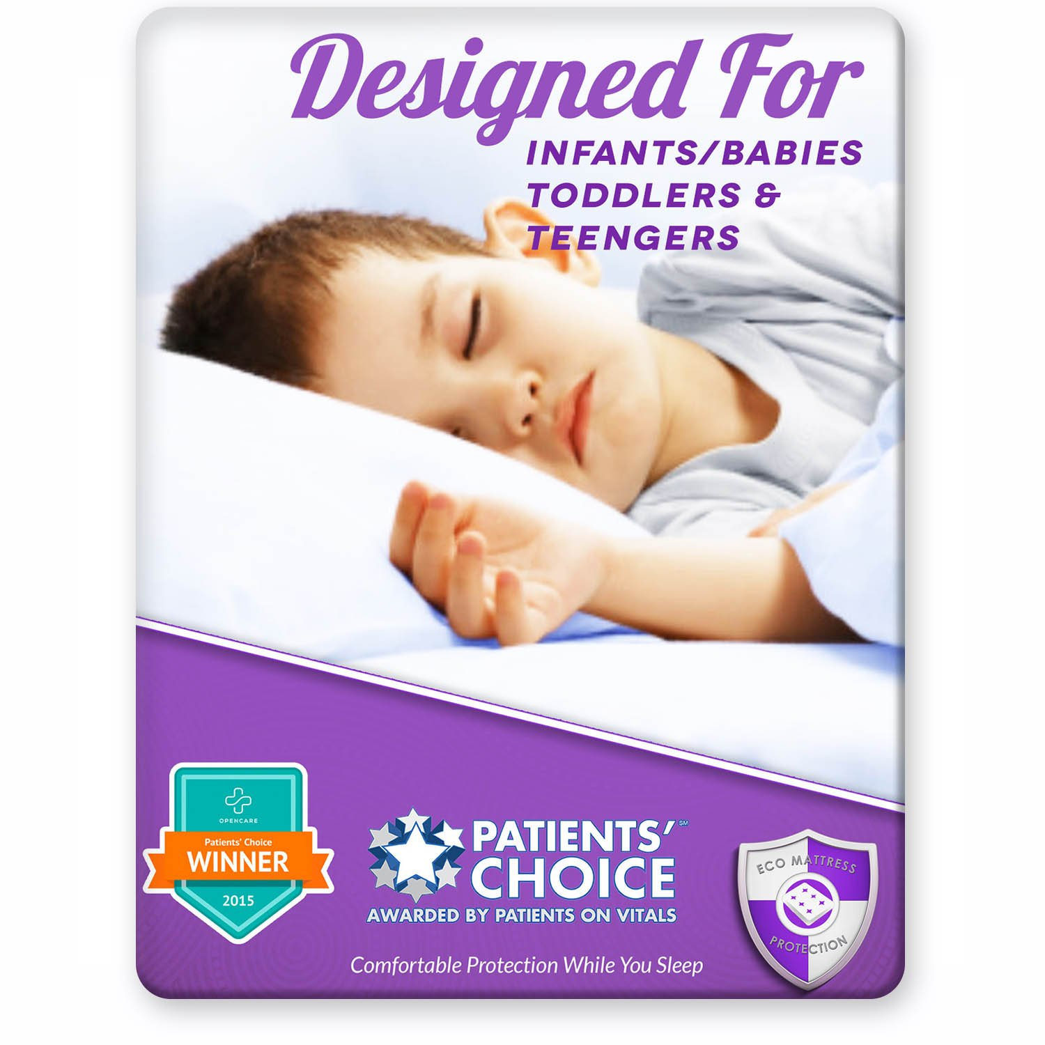 Baby and Toddler Crib Bed Wetting Protector. Prefect for Potty Training. Fits all Cribs, Cots and Day Beds. Super Soft, Easy to Wash and Dry. Award Winning Eco Mattress Protection and Proudly Made USA