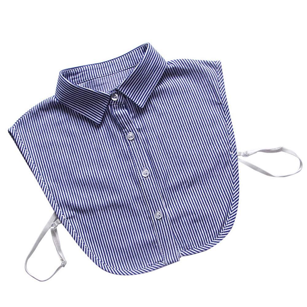 Roblue Falso Cuello de Camisa en Denim extra/íble Falso Half Shirt Blusa Cuello Escenario chemisie Mujer 3 42cm