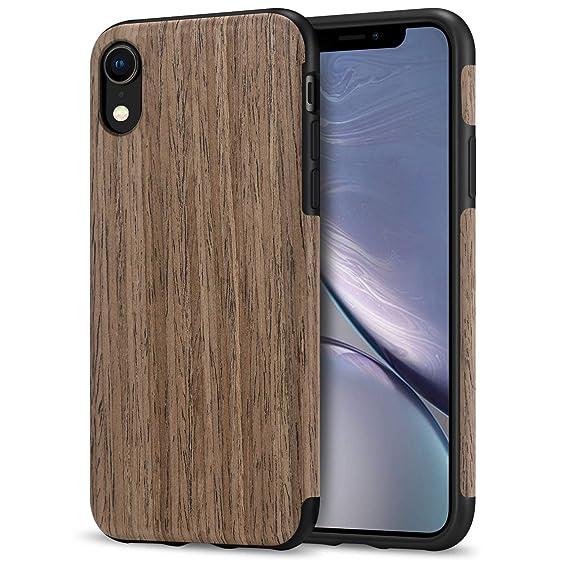 buy online ca4c1 d71ce TENDLIN iPhone XR Case Wood Grain and Flexible TPU Silicone Hybrid ...