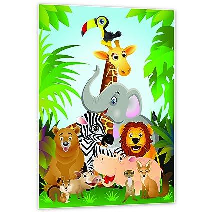 Topposter Poster für Kinderzimmer - Tiere des Dschungels ...