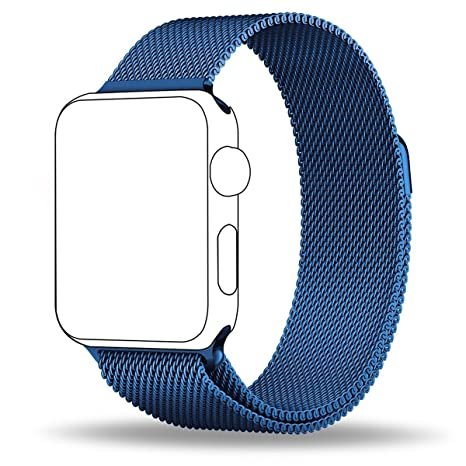 Apple Watch Banda, zro totalmente cierre magnético cierre malla loop acero inoxidable reloj inteligente de
