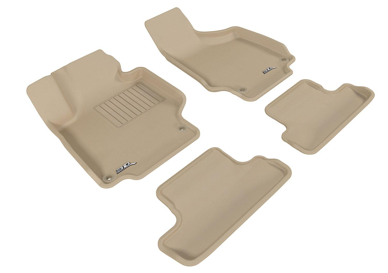 3D MAXpider Front Row Custom Fit All-Weather Floor Mat for Select Audi TT//TTS Models L1AD02911509 Kagu Rubber Black