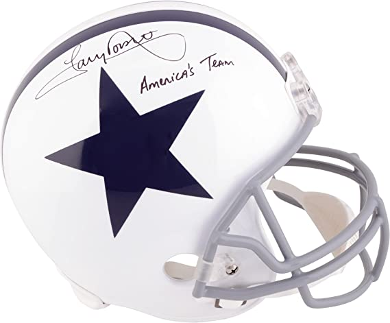Amazon.com  Tony Dorsett Dallas Cowboys Autographed Throwback Replica Helmet  with Americas Team Inscription - Fanatics Authentic Certified  Sports ... c8c74b1f4