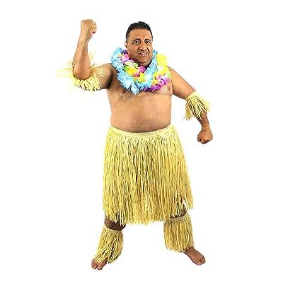 ILOVEFANCYDRESS Disfraz DE Zulu para Hombres Conjunto TEMATICO HAVAIANO DE 5 Piezas (ESTANDAR): Juguetes y juegos
