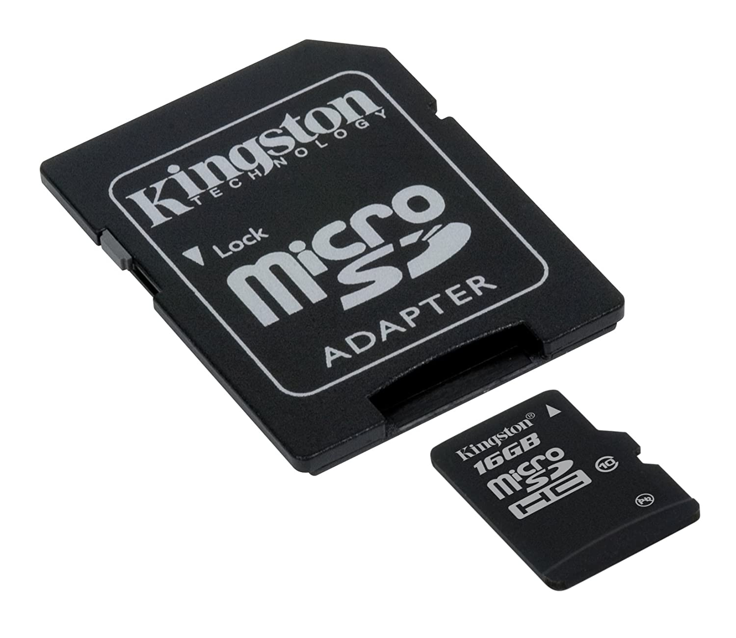 Kingston SDC10/16GB - Tarjeta Micro SDHC de 16 GB, Clase 10, con Adaptador