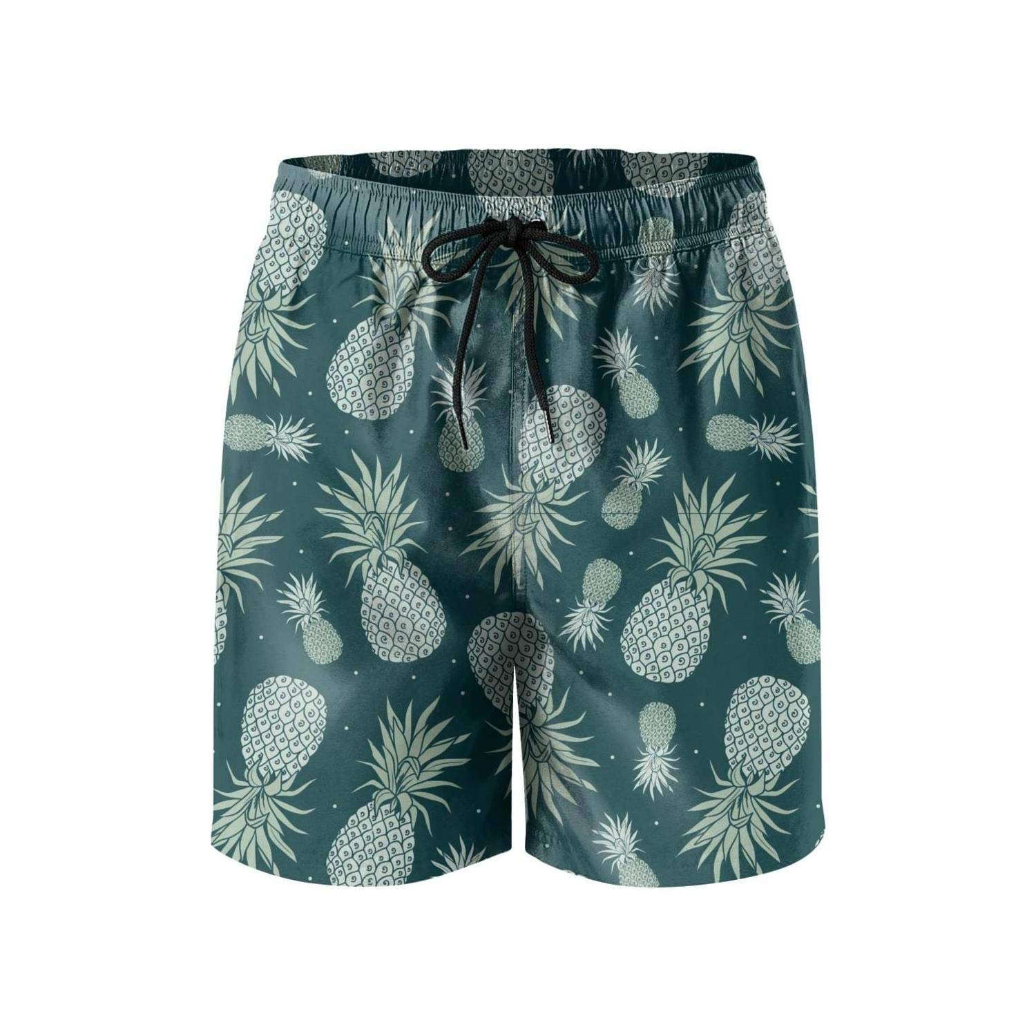 XIAYUTIAN6 Concept Pink and Ultraviolet Pineapple Mens Swimming Trunks Fun Quick Dry Gym Sweatpants