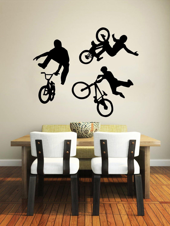 BMX bicycle Wall Decal Vinyl Sticker Decal motocross bike boys room x games kid