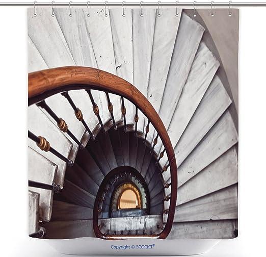 Cool cortinas de ducha escalera de caracol _ 532282195 Juego de ...