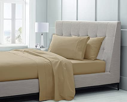 High Quality CHATEAU HOME COLLECTION Hotel Luxury 100% Supima Cotton Solid 600 Thread  Count Sheet Set,
