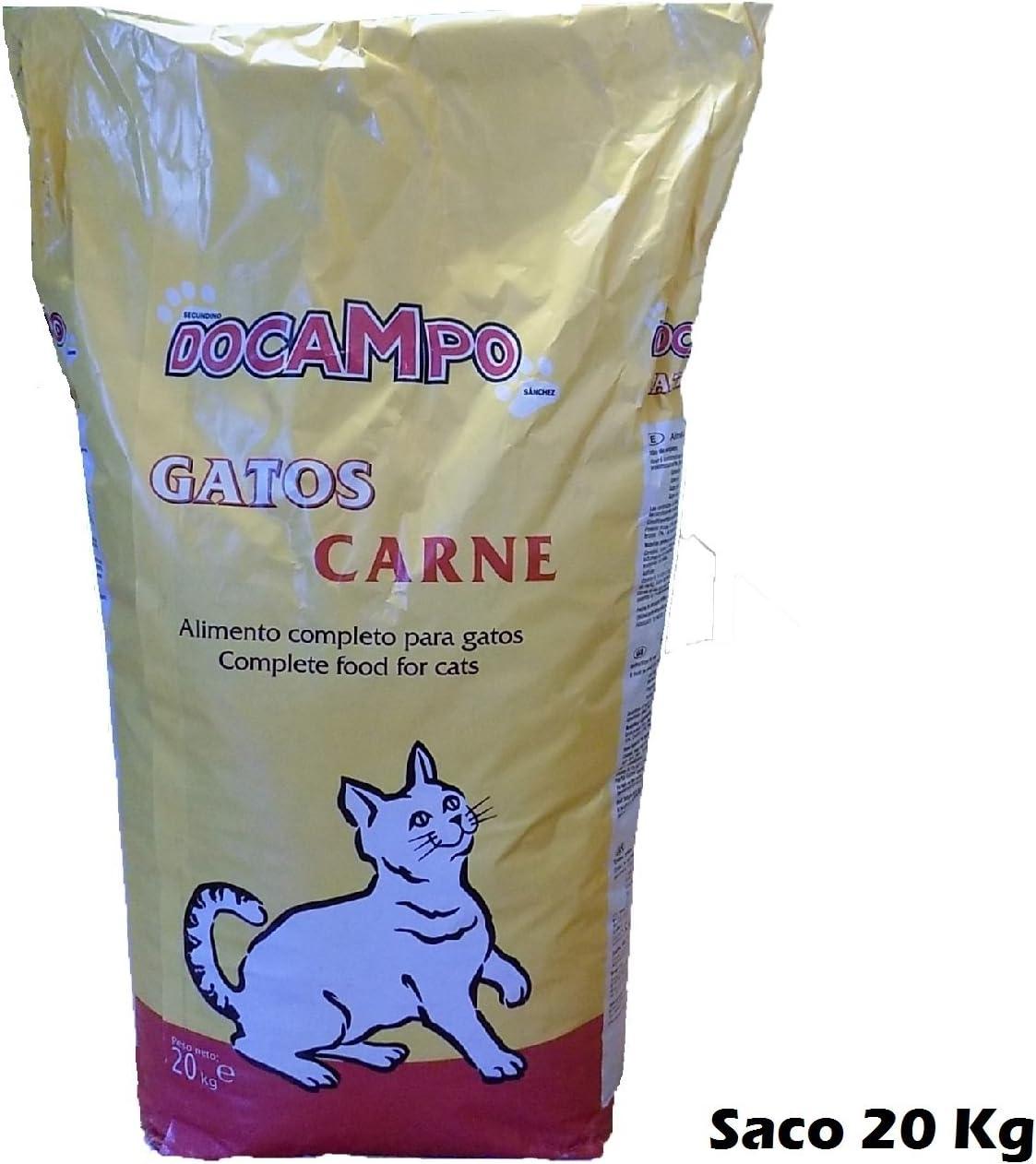 DOCAMPO Saco de pienso 20 Kg Comida para Gatos Sabor Carne: Amazon ...