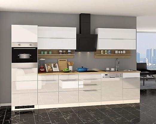 lifestyle4living Küche mit Elektrogeräten 330cm ...