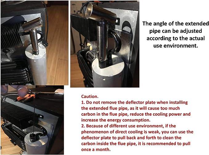 Smad Chimenea de Ventilación de Gas para Refrigerador de Propano para Caravanas RV Camper