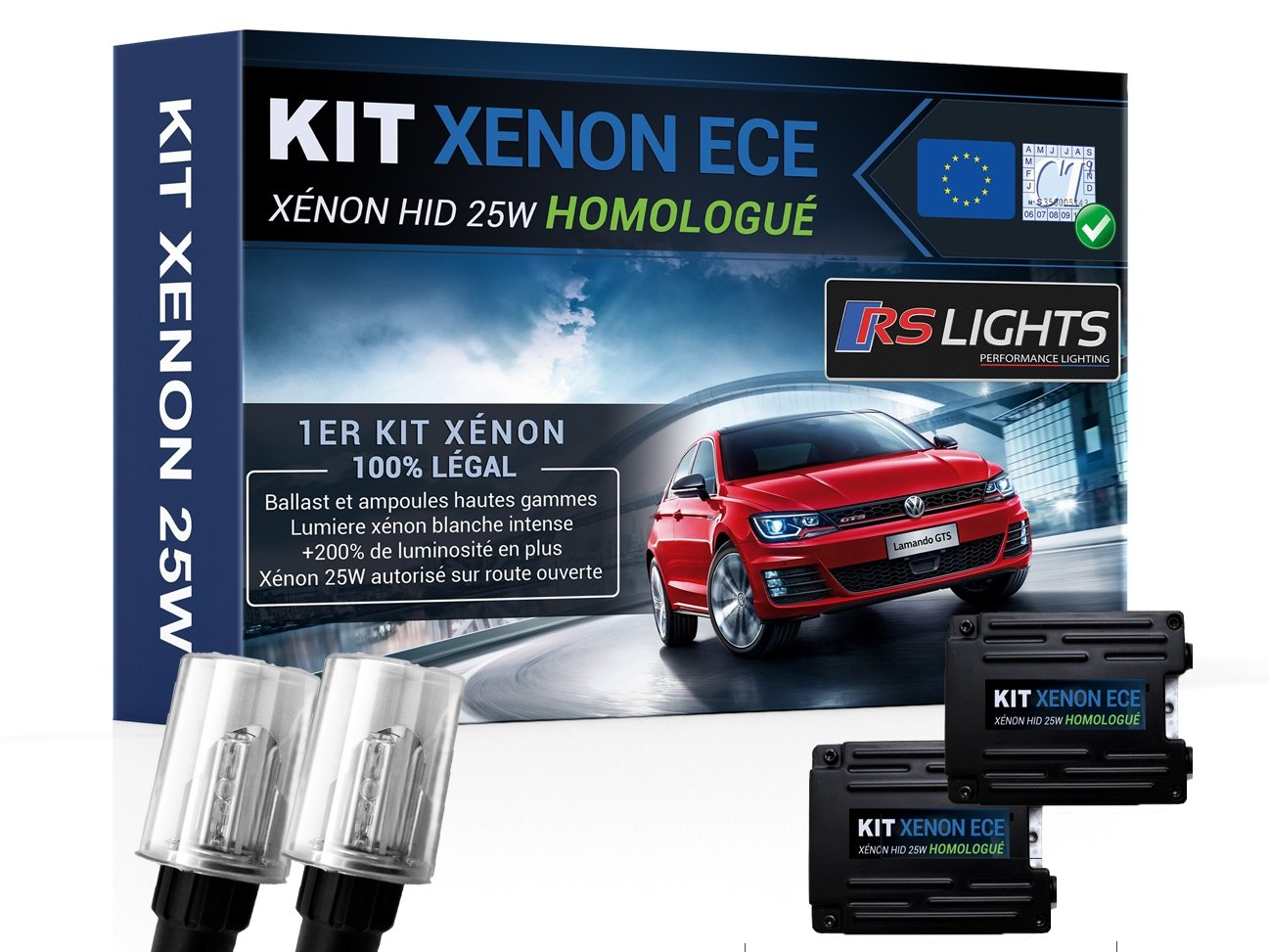 Kit xenón h7 25 W coche Auto - Homologado - Anti error ODB - blanco 6000 K: Amazon.es: Coche y moto