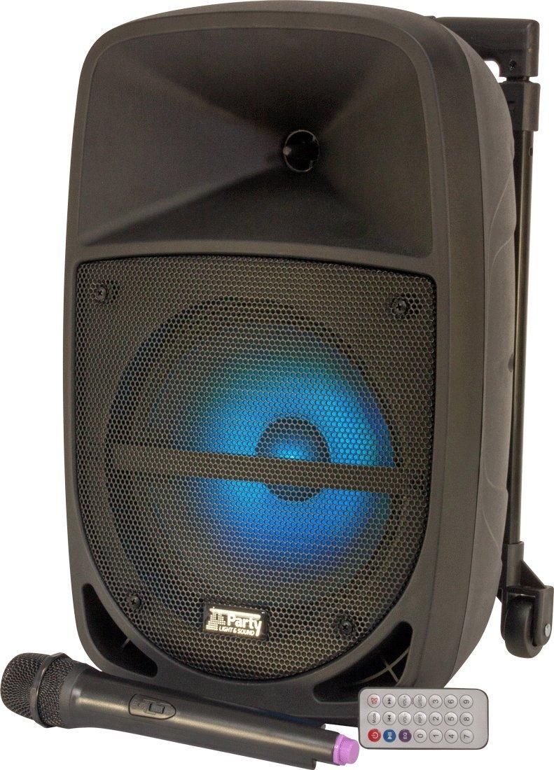 600W noir c/ônes PP avec nervures en caoutchouc Auna CB250-10A Caisson de basses actif 10 mode de r/églage de gain vert ventilateur arri/ère