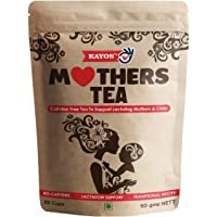 Kayos Mothers Tea for Breastfeeding Mothers – Increase Breast Milk with Caffeine Free Tea to Support Lactating Mothers & Child with Fenugreek - 50g
