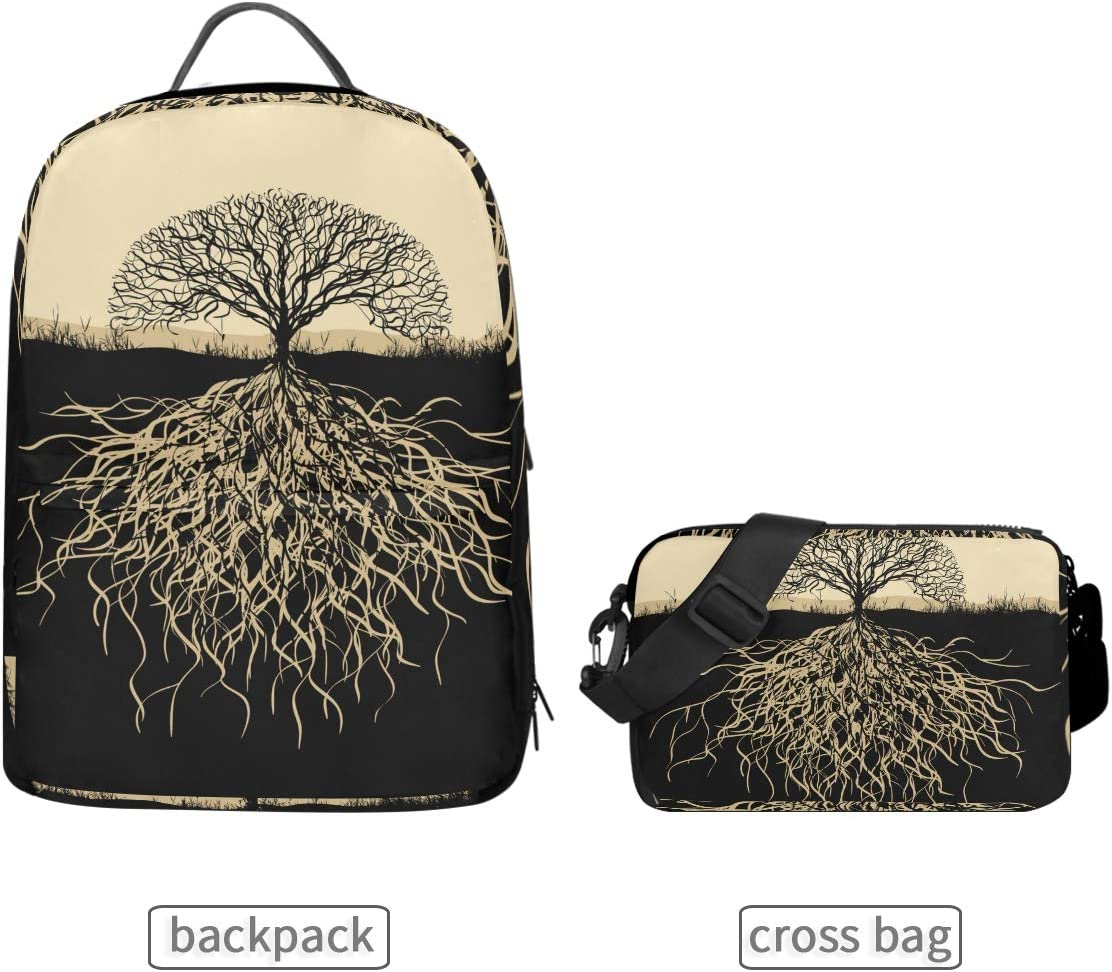 ALLMILL Tree Stretching His Face Last Summer School Backpack