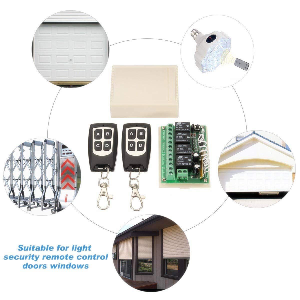Insma Dc 12v 4ch Channel 433mhz Wireless Remote Control Switch With Related Posts To Quot5vdc 12vdc Lt1070 Boost Converterquot 2 Transimitter Rf Relay Toggle Updated Package Diy Tools