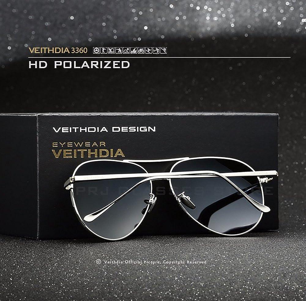 VEITHDIA polarizadas gafas de deporte gafas de sol UV protección para Ciclismo - de béisbol para hombre/mujer Wayfarer estilo - Lentes polarizadas con funda ...