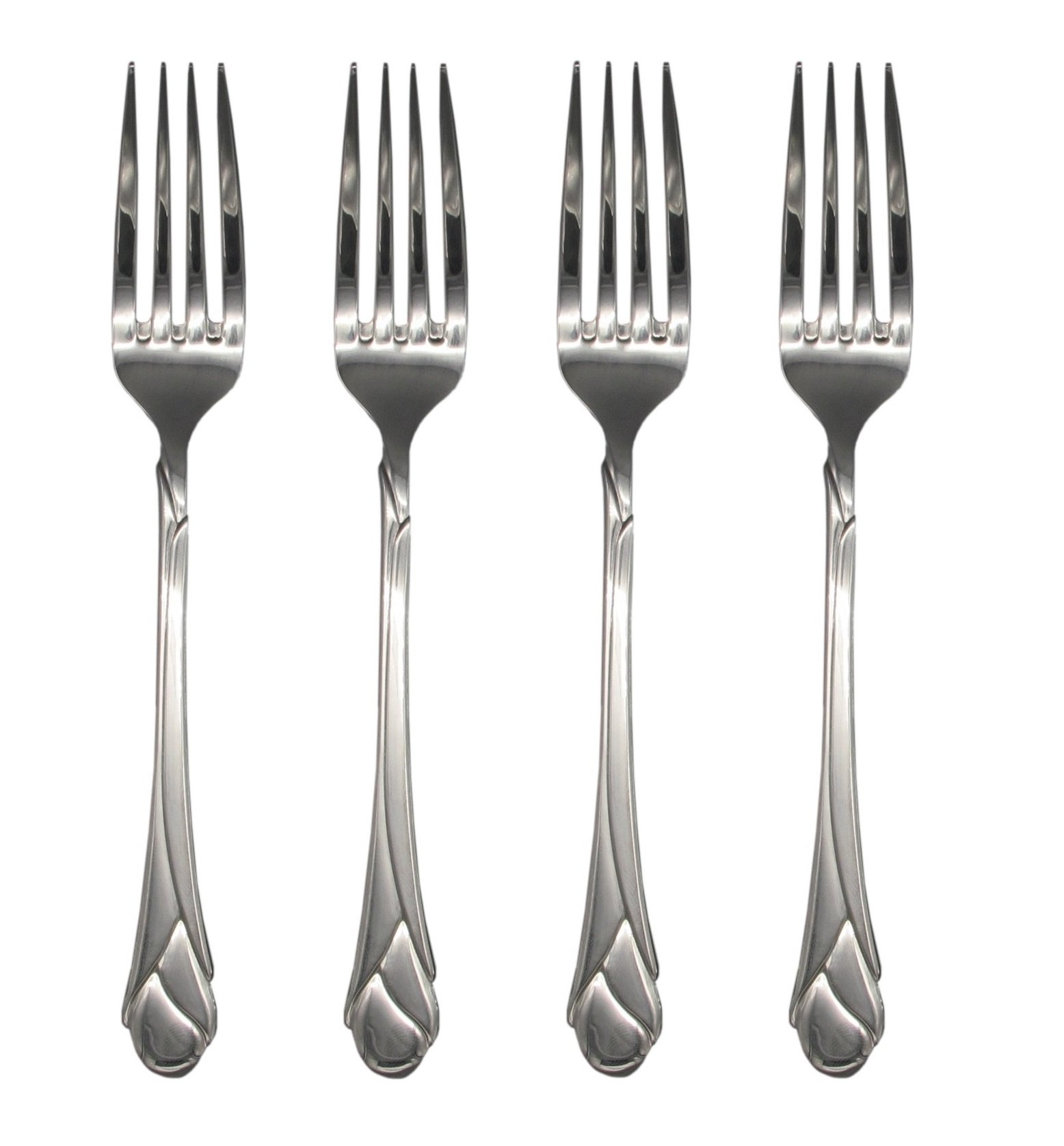 Mikasa Sweet Pea 18/8 Stainless Steel 8'' Dinner Fork (Set of Four) by Mikasa (Image #1)