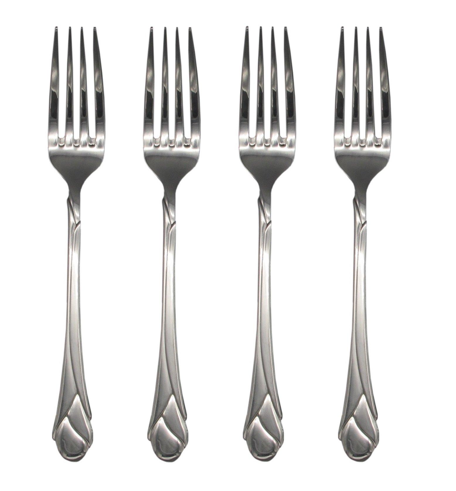 Mikasa Sweet Pea 18/8 Stainless Steel 8'' Dinner Fork (Set of Four)