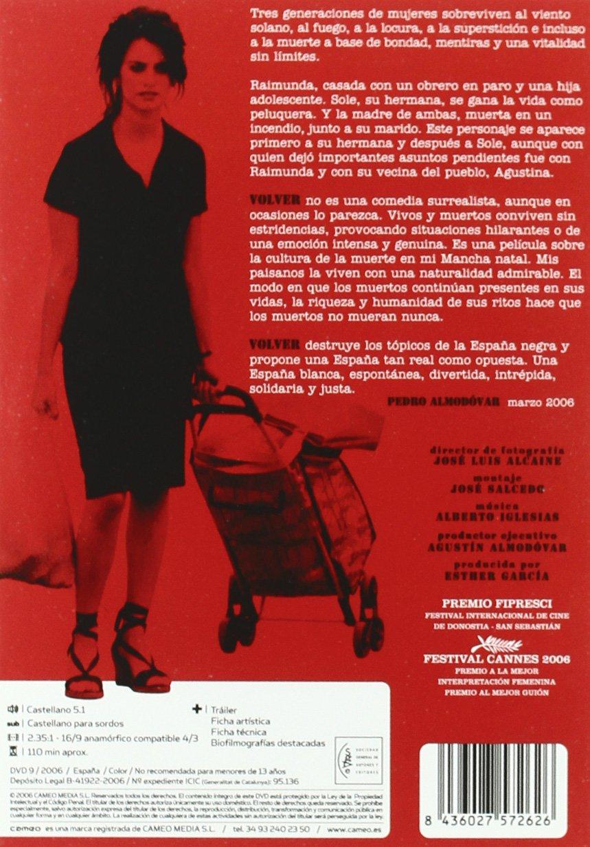 Volver [DVD]: Amazon.es: Penelope Cruz, Lola Dueñas, Carmen ...