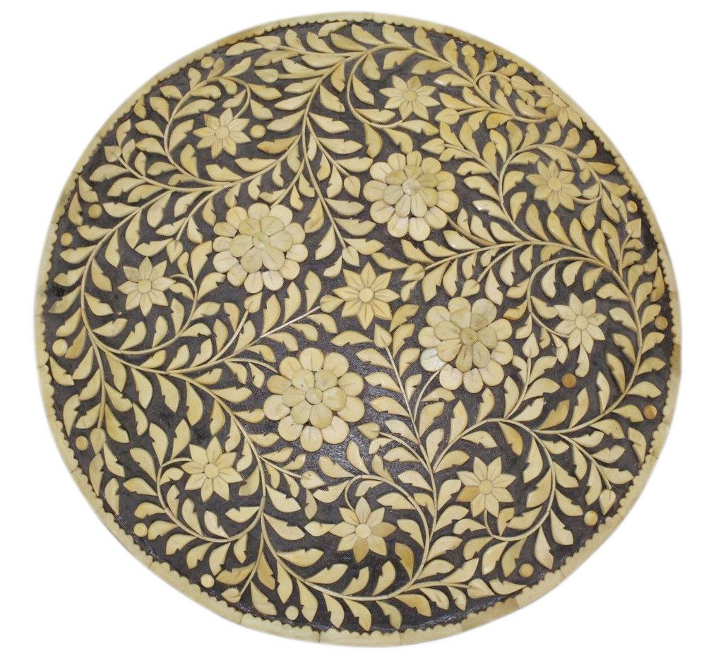 Rajasthan Gems Indian Handmade Natural Camel Bone on Steel Battle Armory Shield Dhal 18'' Inches by Rajasthan Gems