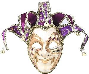 Hophen Masquerade Venetian Mask Jester Resin Mardi Gras Wall Easter Decoration Gift