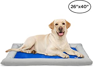 Arf Pets Dog Self Cooling Bed Pet Bed – Solid Gel Based Self Cooling Mat for Pets, Includes a Foam Based Bolster Bed for Extra Comfort